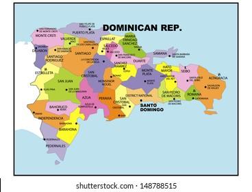 Political map of Dominican Republic