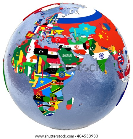 Political Map Europe Africa Middle East Stock Illustration Royalty