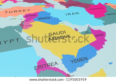 Royalty Free Stock Illustration Of Political Map Middle East Region