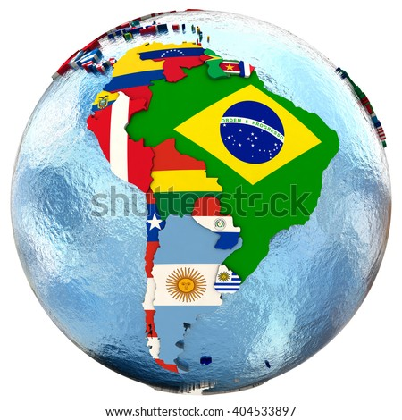 Royalty Free Stock Illustration of Political Map South America Each ...