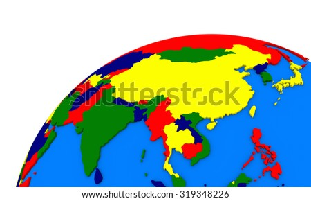 Royalty Free Stock Illustration of Political Map Southeast Asia On ...