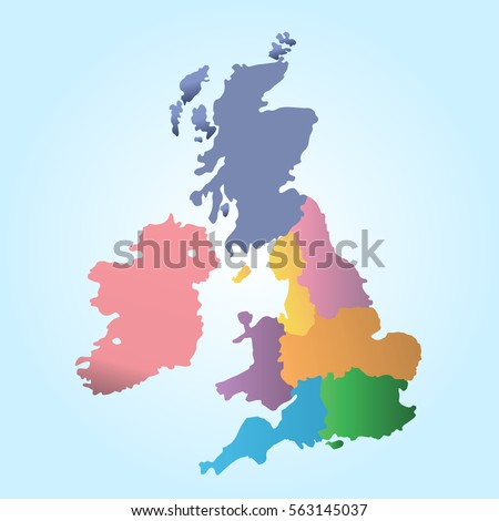 Political Map Of Uk.Royalty Free Stock Illustration Of Political Map Uk Stock