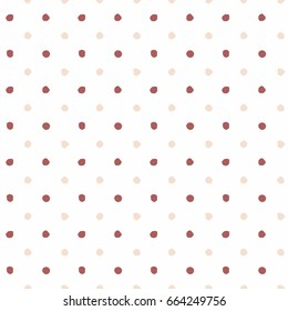 Polka Dot Background - Irregular Dots - Multicolored Polka Dot Background - Red and Pink