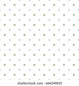 Polka Dot Background - Irregular Dots - Multicolored Polka Dot Background in Green and Blue