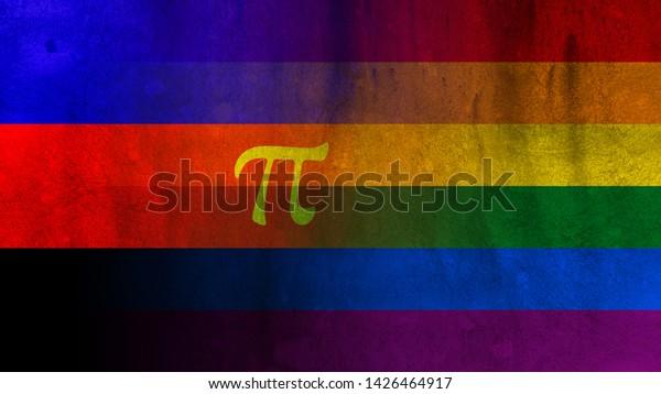 Poly Flag Pride Flag Pride Flag Stock Illustration 1426464917