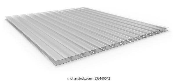 Polycarbonate corrugated sandwich panel