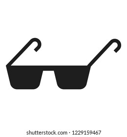 Polycarbonate glasses icon. Simple illustration of polycarbonate glasses icon for web design isolated on white background