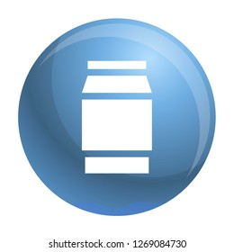 Polycarbonate jar icon. Simple illustration of polycarbonate jar icon for web design isolated on white background