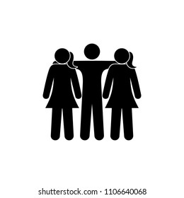 Two Girls And One Boy Images Stock Photos Vectors Shutterstock