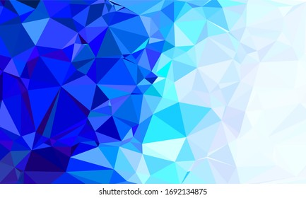 Polygon blue gradient abstract background