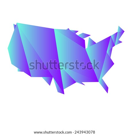 Polygon Map Continental United States Grant Stock Illustration ... on