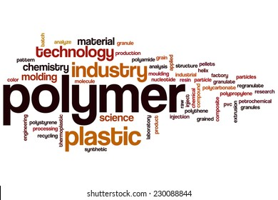 Polymer word cloud concept