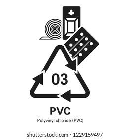 Polyvinyl chloride icon. Simple illustration of polyvinyl chloride icon for web design isolated on white background