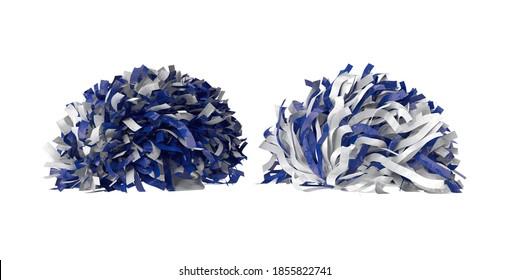 Pom Poms 3D illustration on white background