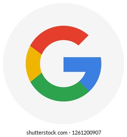 Pontianak, Indonesia-December 17 2018: An illustration circle icon of Google.