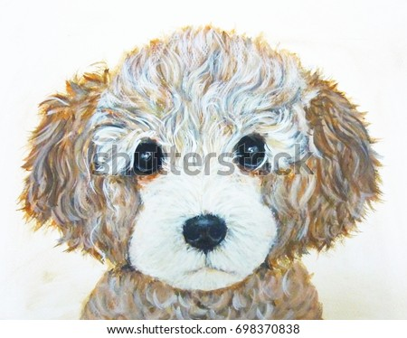 Poodle Dog Art Cute Puppy Wallpaper Stock Illustration 698370838