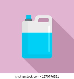 Pool chlorine canister icon. Flat illustration of pool chlorine canister icon for web design