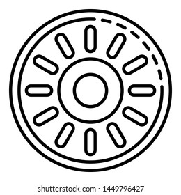 Pool hose wheel icon. Outline pool hose wheel icon for web design isolated on white background