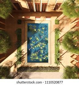 Maison Terrasse Jardin Moderne Stock Illustrations, Images ...