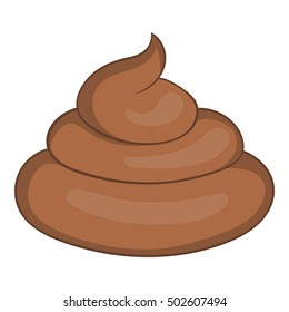 Poop shit icon. Cartoon illustration of poop shit vector icon isolated on white background