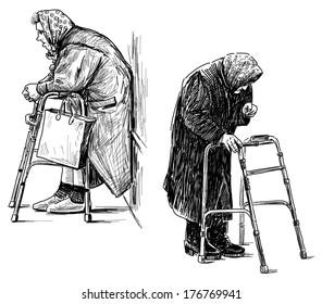 poor old women