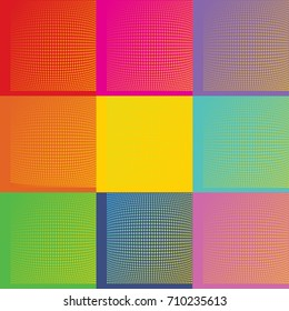 Pop Art Andy Warholl background illustration with dots