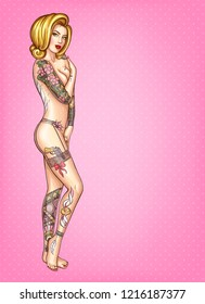 Hot girl covering naked body with hands Naked Woman Covering Herself Stock Illustrations Images Vectors Shutterstock
