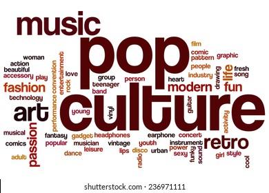 Pop culture word cloud concept
