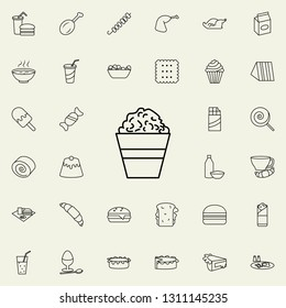 popcorn icon. Fast food icons universal set for web and mobile