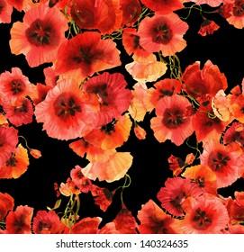 Poppies Seamless Pattern