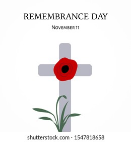 Poppy Cross, Remembrance Day November 11.