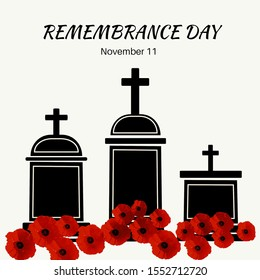 Poppy cross, Remembrance Day poster or banner in Westminster Abbey.