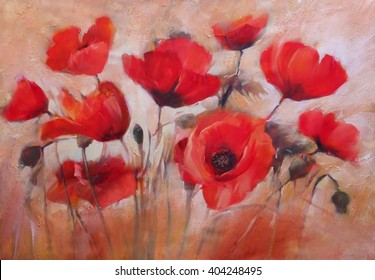 Artwork flower is painting poppy images stock photos vectors poppy flowers handmade oil painting on canvas mightylinksfo