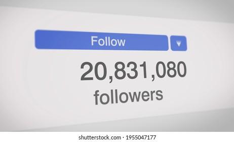 popular social media statistics info 3d illustration