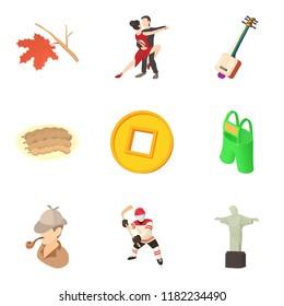 Population density icons set. Cartoon set of 9 population density icons for web isolated on white background