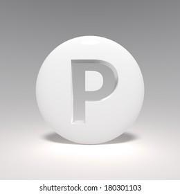 porcelain letter P