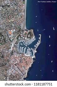 Port Vauban Antibes, France Map (3D rendering)