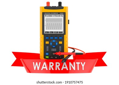 Portable oscillograph warranty concept. 3D rendering isolated on white background