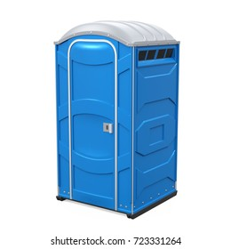 Portable Toilet Isolated. 3D rendering