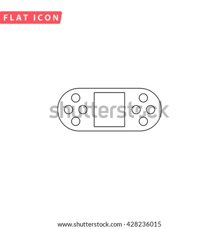 Royalty Free Stock Illustration Of Portable Video Game Console Black - Video game outline