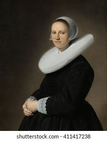 Portrait of Adriana Croes, by Johannes Verspronck, 1644, Dutch painting, oil on canvas
