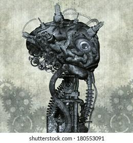 Portrait of an antique Cyborg