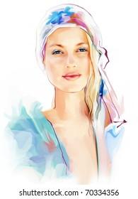 Portrait d'une belle femme élégante