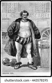 A portrait of Cesar Cascabel. Photo by George Roux. From Jules Verne Cesar Cascabel, vintage engraving, 1890.