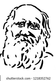 A portrait of Leo N Tolstoy a famous Russian novelist and dramatist