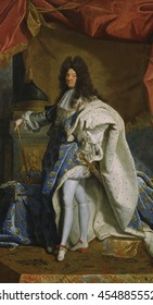 Portrait of Louis XIV, by Hyacinthe Rigaud studio, 1701, French painting, oil on canvas. This is a contemporary copy of the original Portrait of Louis XIV of 1701