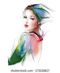 Portrait of the lovely girl