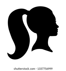 Portrait and silhouette of a woman