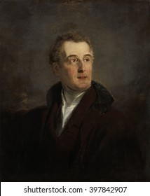 Portrait Study of Arthur Wellesley, Duke of Wellington, by Jan Willem Pieneman, 1821, Dutch painting, oil on canvas. It was probably made during Pieneman's execution of the 'The Battle of Waterloo'