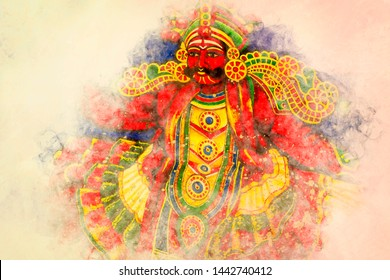 portrait of therukoothu artist chennai, India